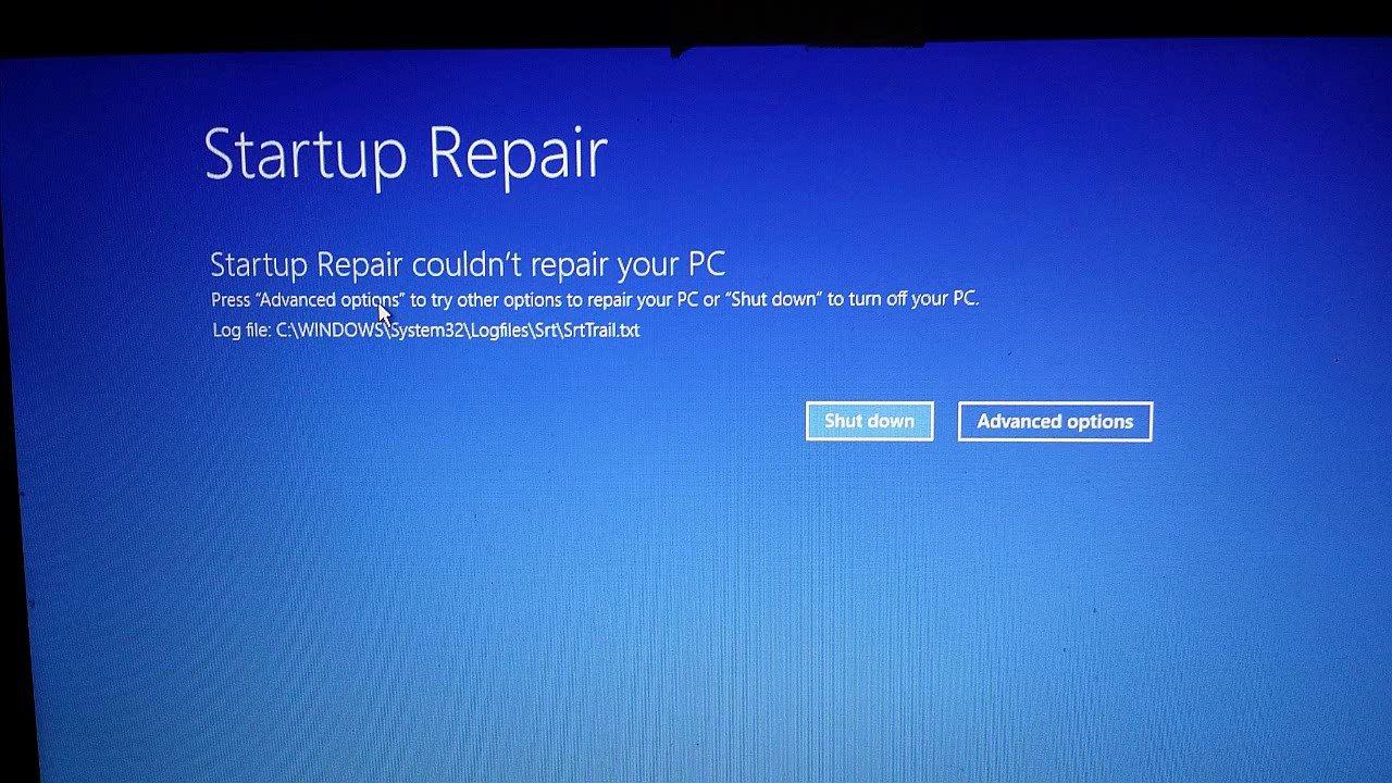 Startup Repair couldn't repair your PC - SrtTrail.txt (Repairing an offline windows... maxresdefault.jpg