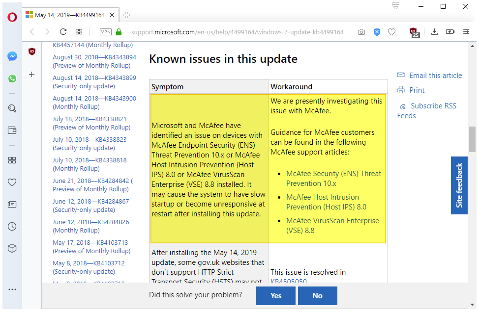 May 2019 updates for Windows 7 and Server 2008 R2 don't play nice with McAfee or Sophos... mcafee-issue-windows.png