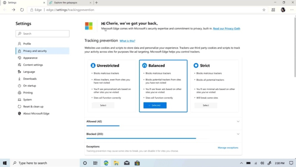 Microsoft Edge to get Collections feature and new Privacy Tools Microsoft-Edge-privacy-tool.jpg