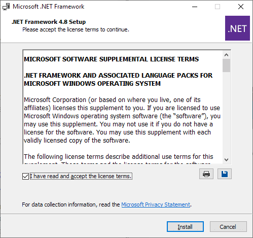 net framework offline installer for windows 10