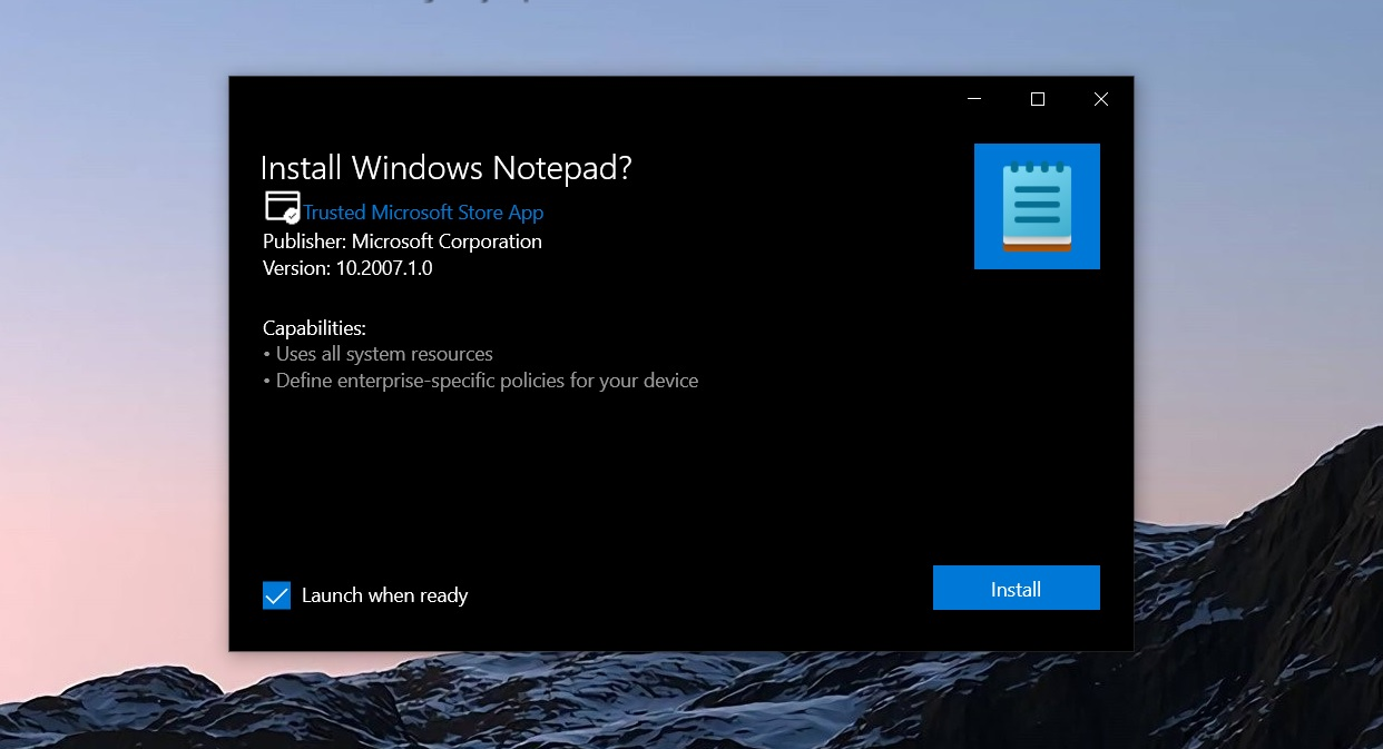 Windows 10 Notepad will display alerts when you're running an old version Notepad-update.jpg