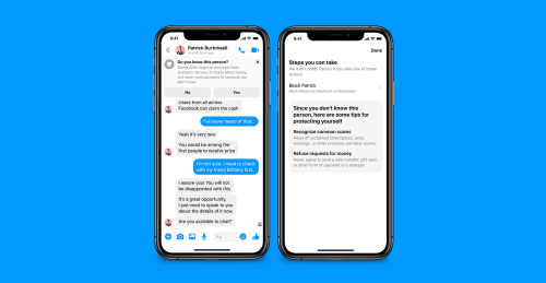 Facebook Messenger now helps to prevent unwanted contacts and scams NRP-MSGR-SafetyTips_B003.jpg