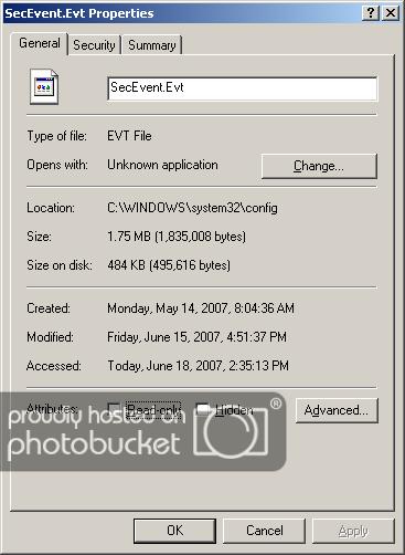 Windows event log NTFSCompressEventLog.png