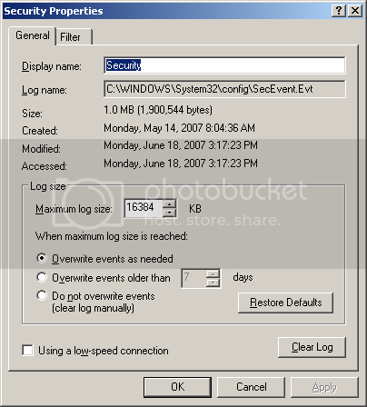 Windows 10 Home not forwarding events from event log. NTFSCompressProperties.png