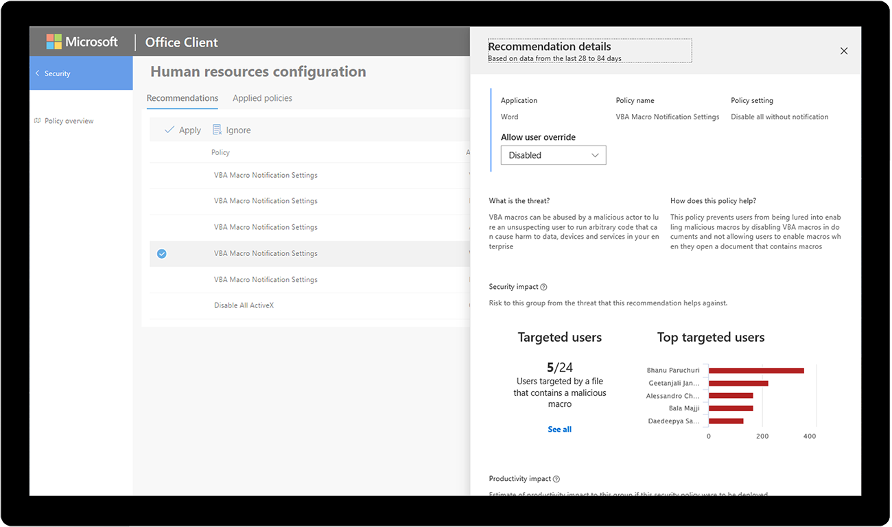What is New to Microsoft 365 in April 2019 Office-Security-Policy.png