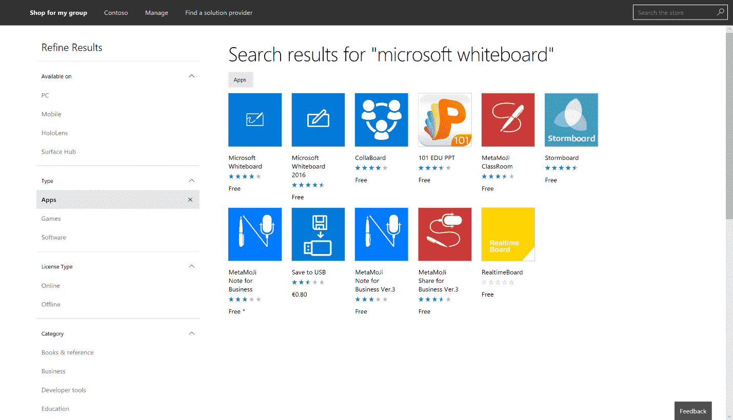 Set the Microsoft Whiteboard app on Surface Hub Offline-Apps.png