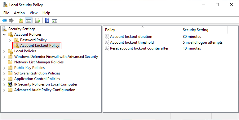 Is there an equivalent to the 'Account lockout threshold' security policy setting for... ogjGE.png