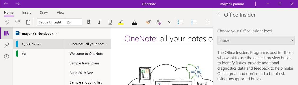 Microsoft is finally rolling out dark mode to Windows 10's OneNote app OneNote-Insider.jpg