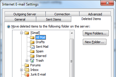 """Outlook Mail changing incoming messages to """"read"""" Outlook-Move-Deleted-Items.png"""