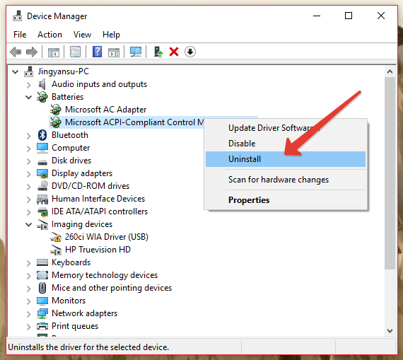 Win 10: Battery on 100 % all the time, does not charge pbDp4sx.png