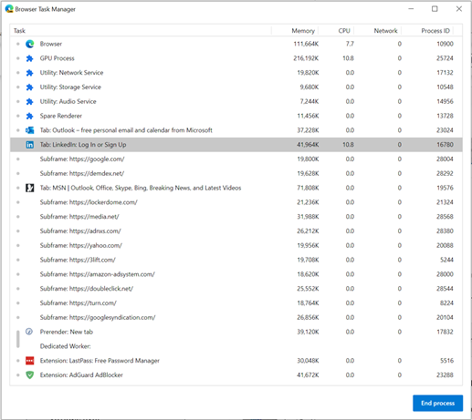 How to investigate Microsoft Edge memory usage on Windows Picture1.png