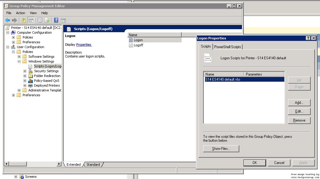 Set default printer based on network IP Printerscrupt.png