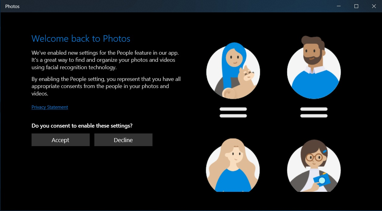 Windows 10's stock Photos app updated for Insiders with improvements Privacy-screen-in-Photos-app.jpg