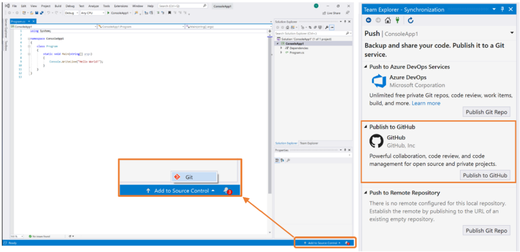 Visual Studio 2019 version 16.9.4 released PublishToGH-1024x497.png