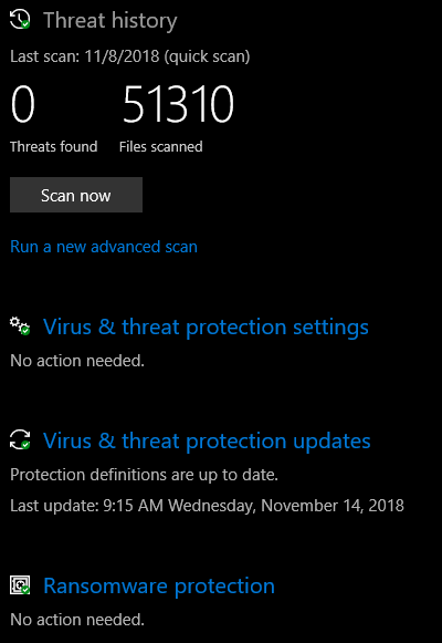 Windows Defender finds 1 threat almost every scan. qUClB.png