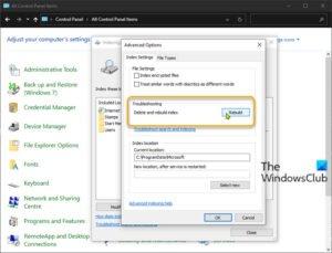 How to rebuild Search Index in Windows 10 Rebuild-Search-Index-via-Control-Panel-300x229.jpg
