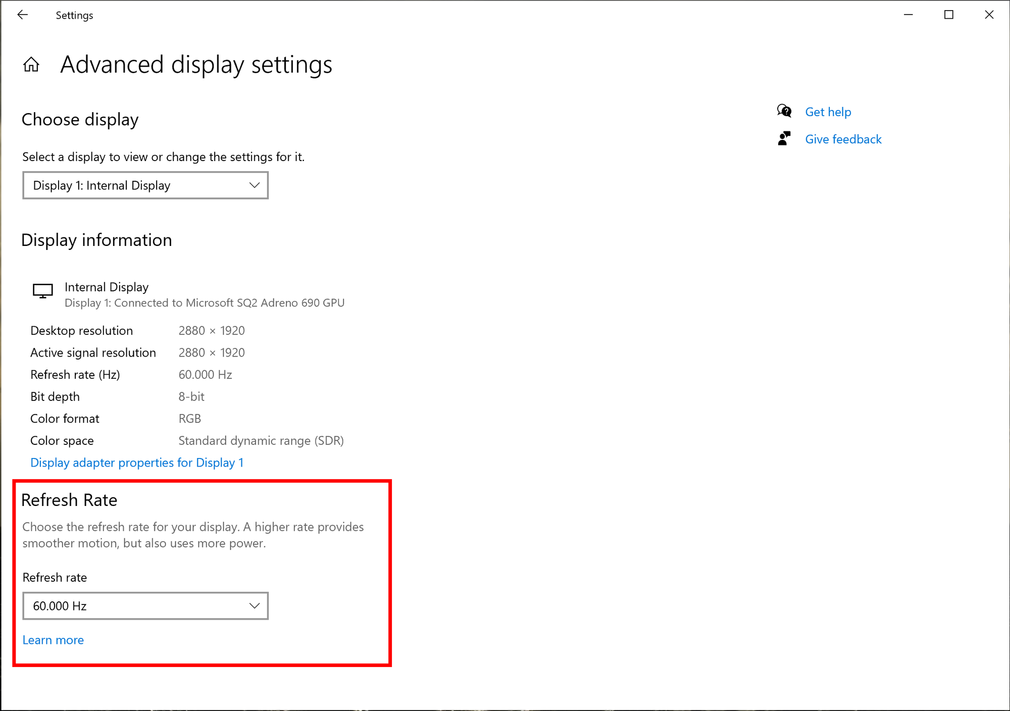 Windows 10 Insider Preview Build 20236.1005 (rs_prerelease) - Oct. 16 refresh-rate.png