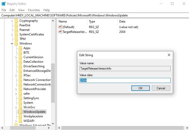 Microsoft reveals new trick to block Windows 10 feature updates Registry-Editor.jpg