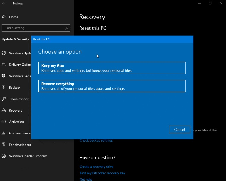 Everything new in Windows 10's next major update Reset-PC-page.jpg