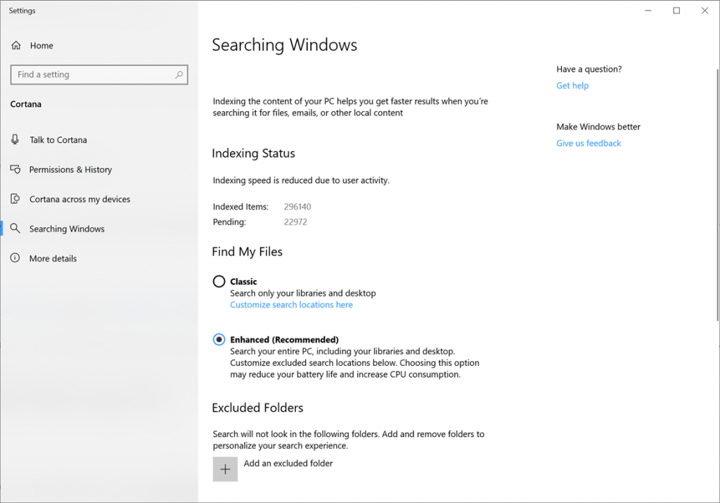 What is new for Windows 10 May 2019 Update version 1903 search-index.png