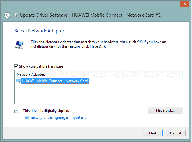 Ethernet adapter does not have valid IP configuration select-network-adapter.png