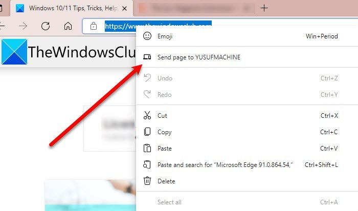 How to Sent Tabs to other devices with Microsoft Edge send-page.jpg