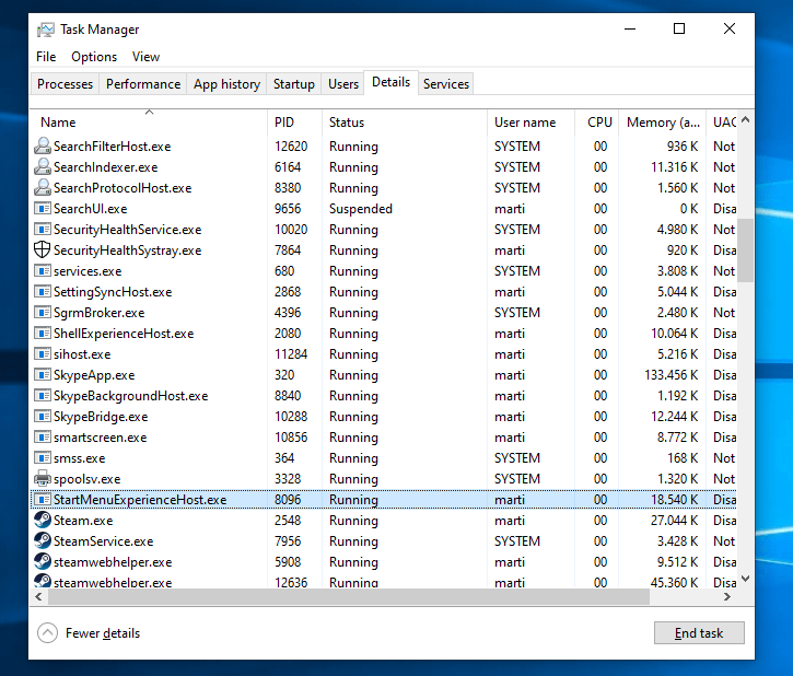 Start Menu gets its own process and a performance boost in Windows 10 19H1 startmenuexperiencehost-process.png