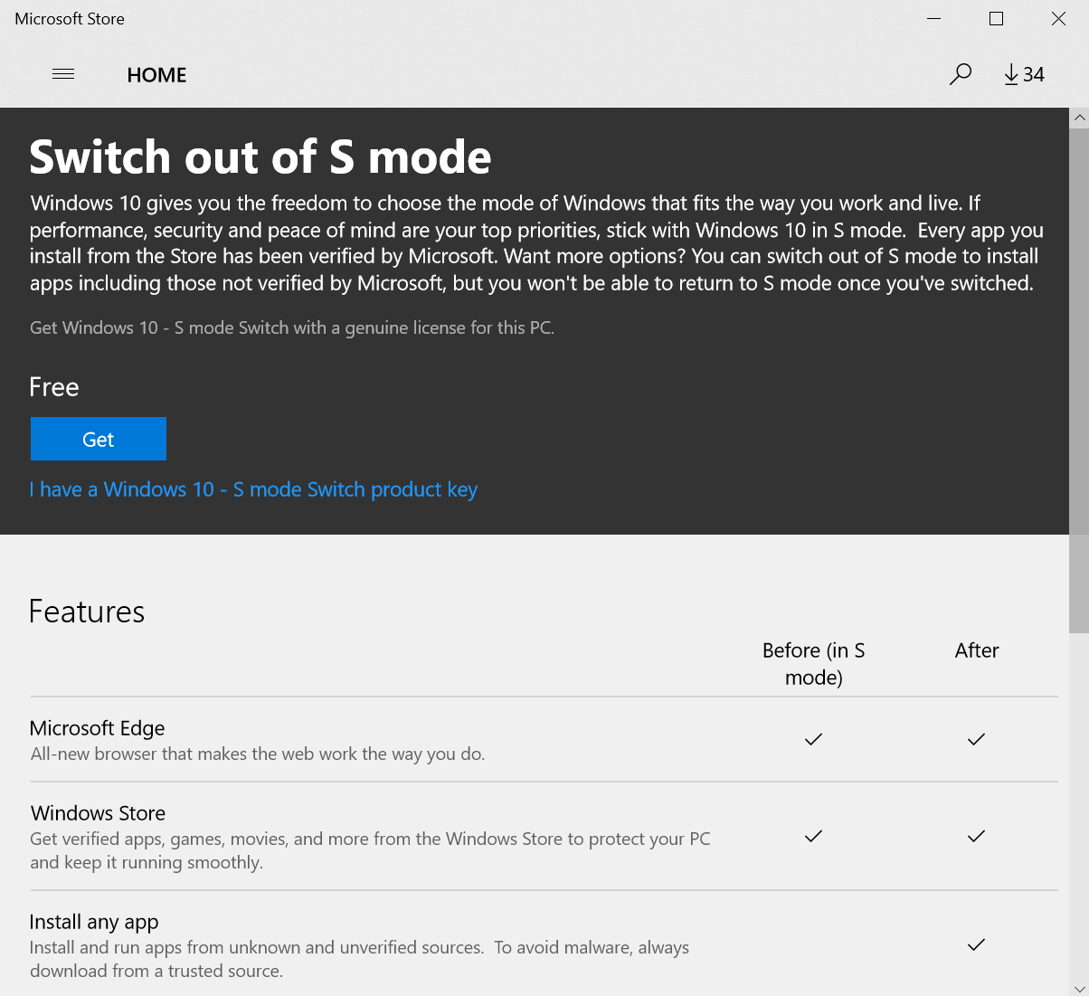 how do i switch from windows 10 pro to home