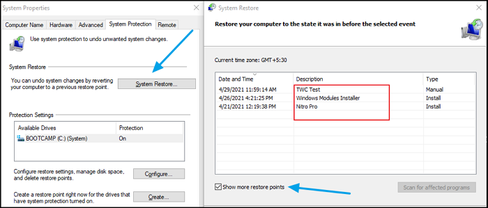 How to delete individual or specific System Restore Point in Windows 10 System-Restore-Point-Description.png