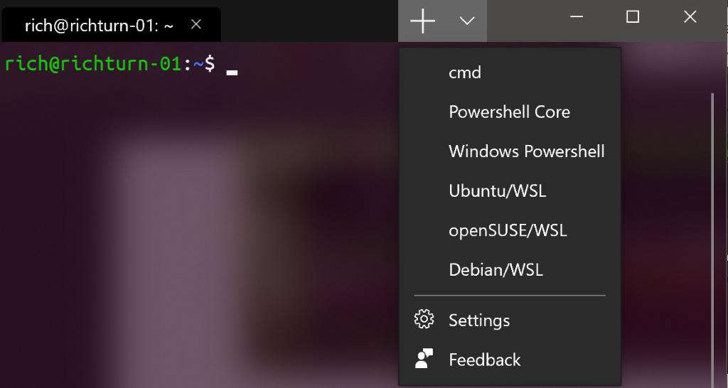 Introducing Windows Terminal app for Windows 10 tab-menu-1024x546.png