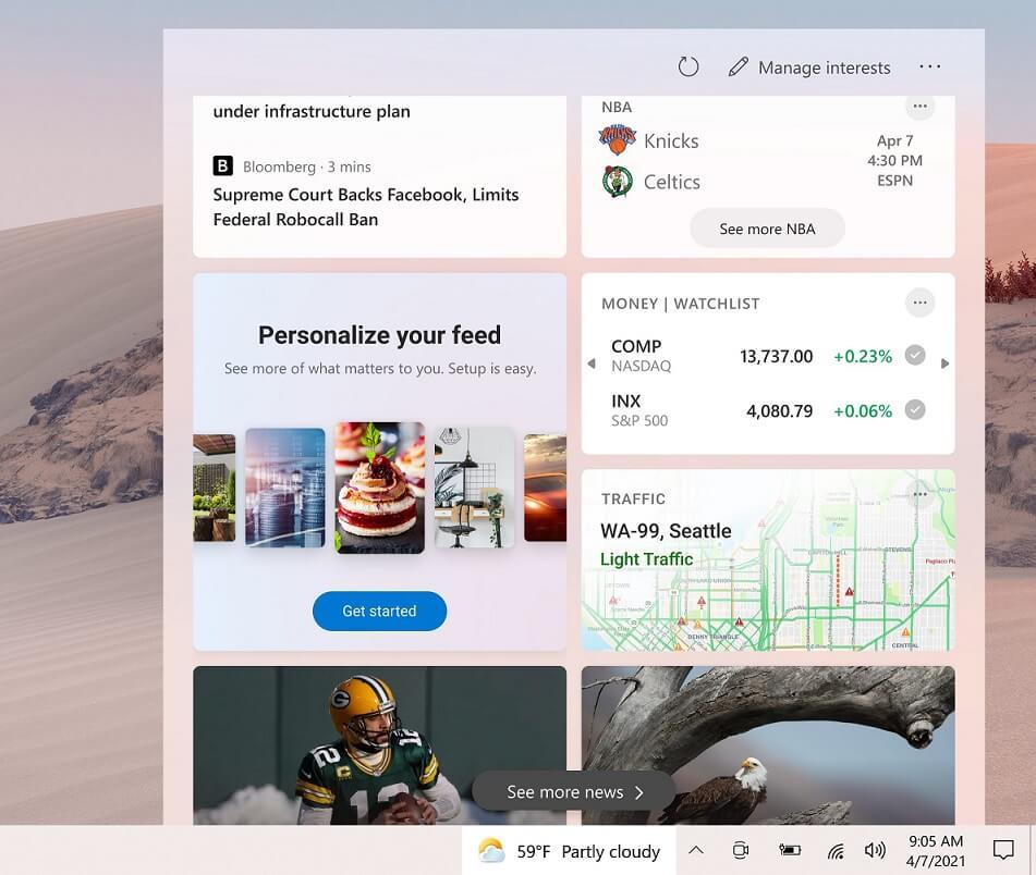 Windows 10's upcoming taskbar newsfeed to get full-page personalization UI Taskbar-newsfeed.jpg