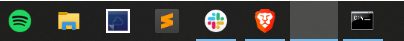 Windows 10 blank taskbar icons taskbar.png