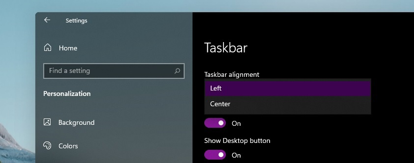 Hands-on with new Windows 11 Start Menu, arriving later this year Taskbar-settings.jpg