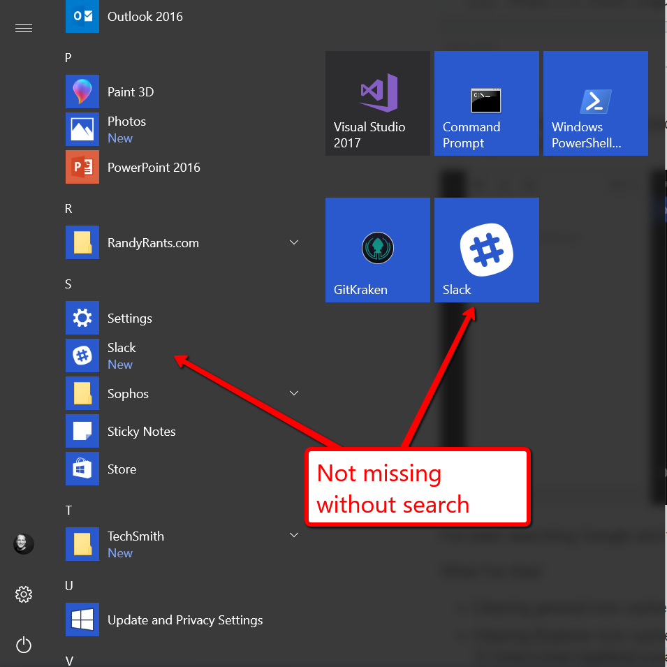 Icons from apps out of the Microsoft Store are missing inclusive the icon of the Microsoft... tDyrM.png