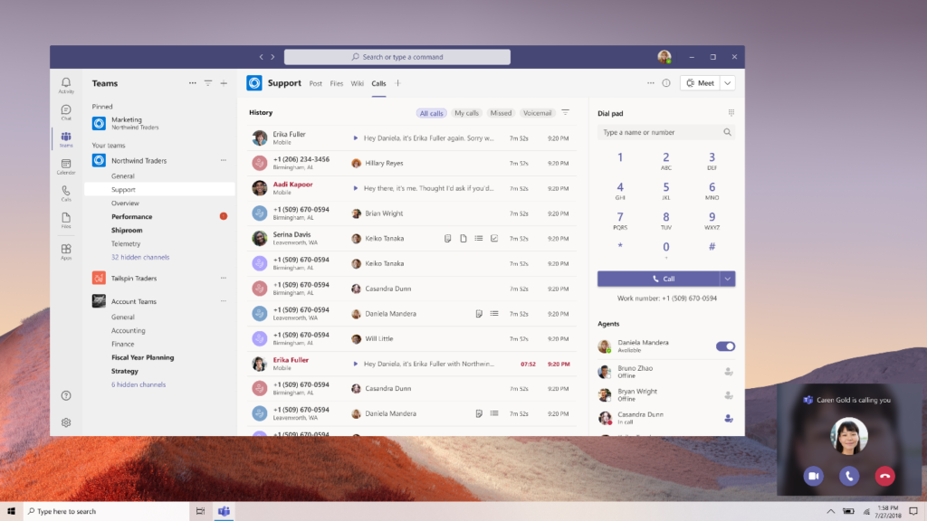 New Microsoft Teams Calling features Teams-2-1024x576.png