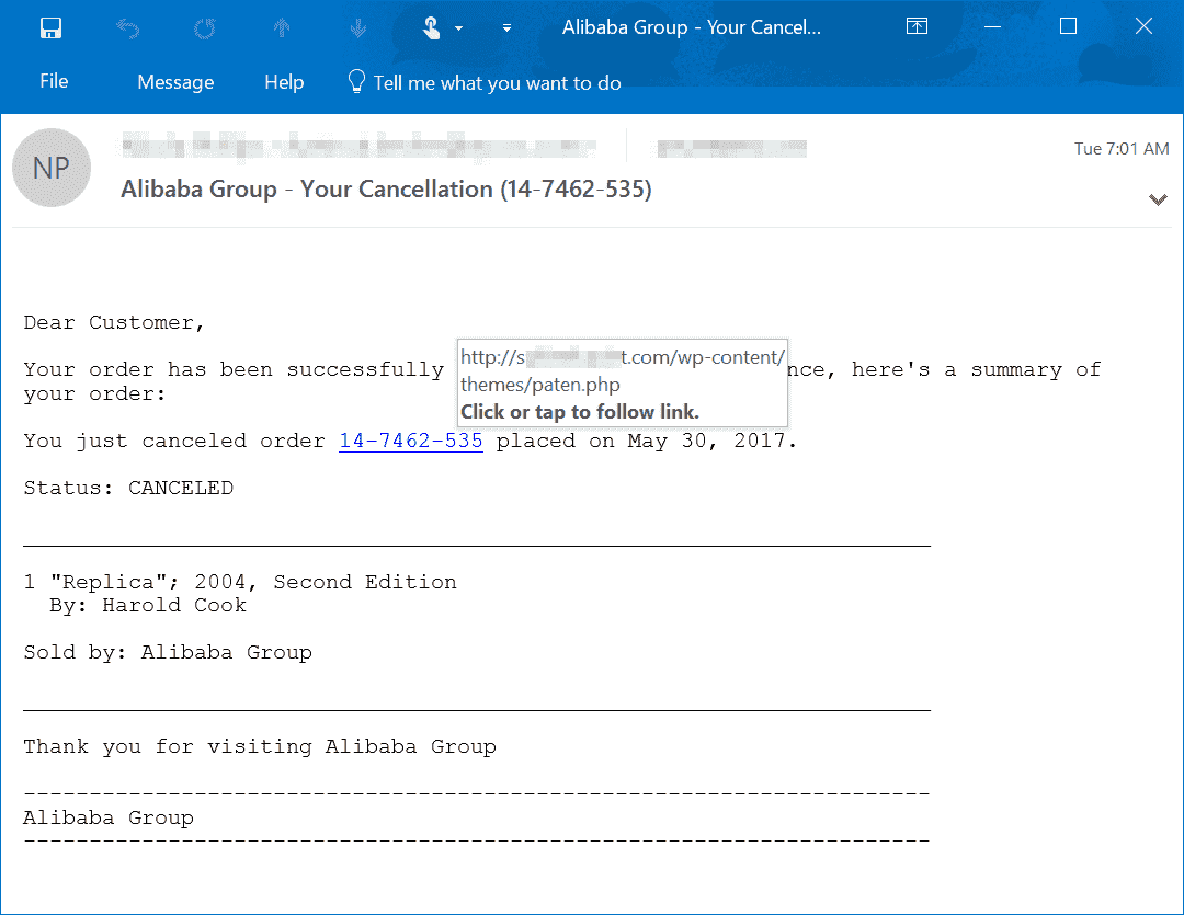 I'm getting what I think are scam emails that are spoofed to look like microsoft. tech-support-scams-from-email-1.png