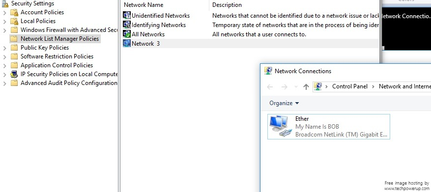 "How do I have my actual network name show?  Not ""network"" (windows 10) temp.jpg"