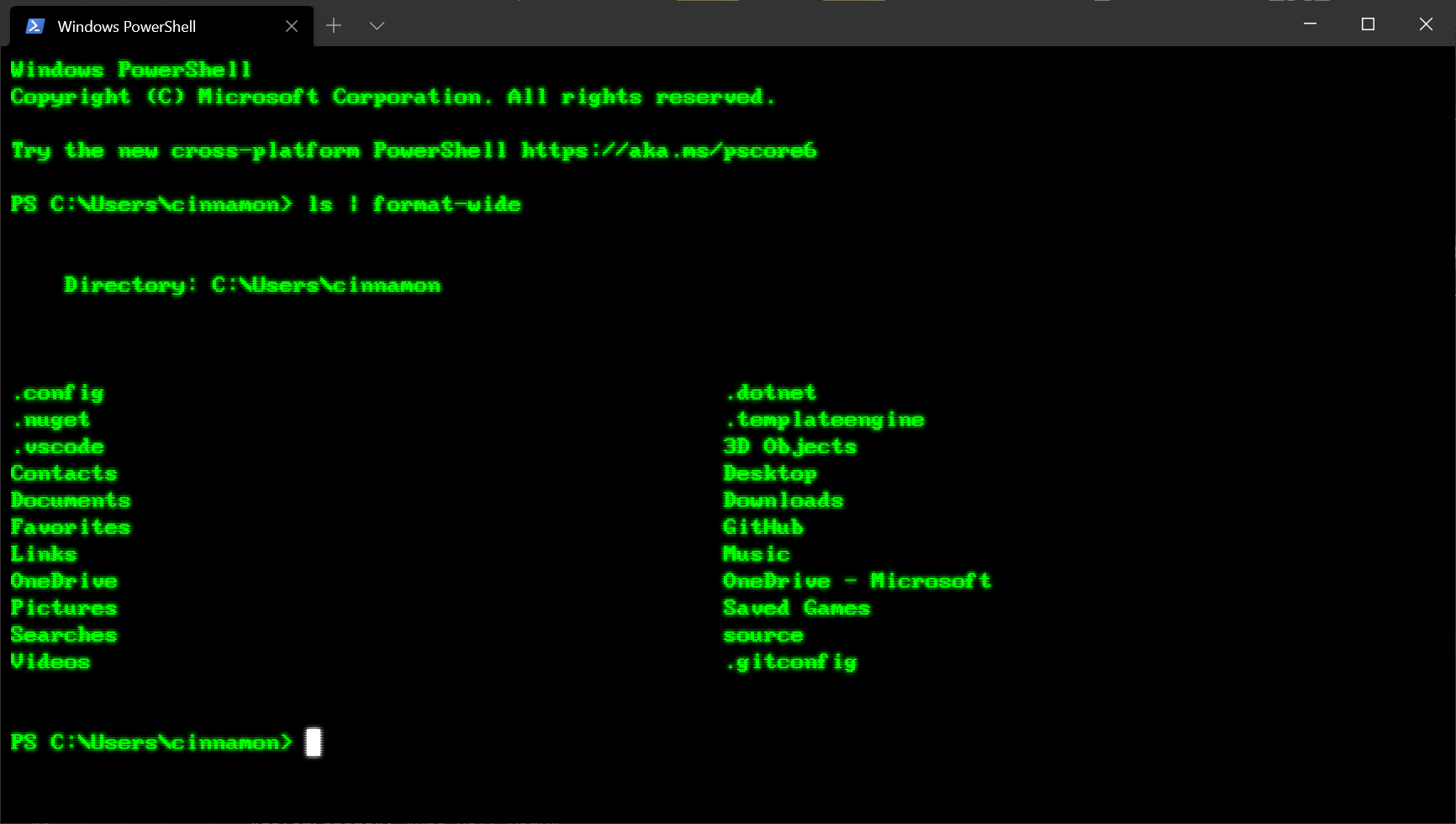 Windows Terminal Tips and Tricks for Windows 10 terminal-retro-font.png