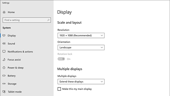 Adding a second monitor in Windows 10. In Multiple Displays setting, the drop down box does... th?id=OSAS.7E1FB3A3A8608185D86B1531CFCDB39F&w=568&h=322&c=7&rs=1&qlt=100&dpr=1.png