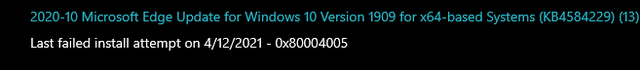 This update has been failing the past 2 weeks, should I worry about it? tsxbjry5fxs61.png