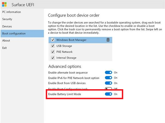 Surface Pro battery limit option not showing UEFI_Battery_Limit1.png