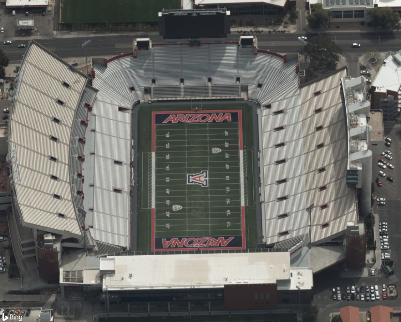 Bing Maps Released New Bird's Eye Imagery UniversityofArizonaStadium.png