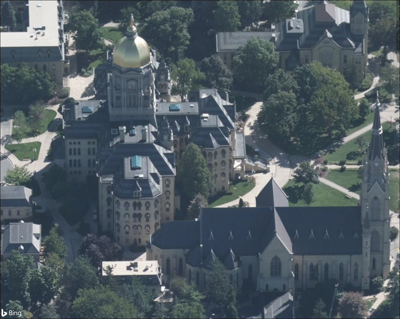 Bing Maps Released New Bird's Eye Imagery UniversityofNotreDame_SouthBend_IN.png