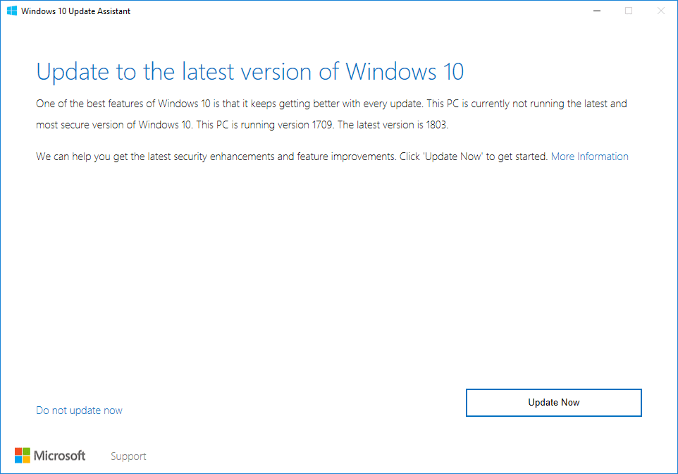 Windows 10 version 1809 rollout to speed up