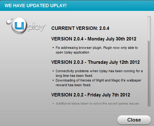 Stop error code: Security_Check_Failure after failure to start ubisoft uPlay - issue is... Uplay-Update.png