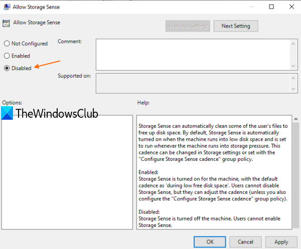 How to Disable Storage Sense in Windows 10 use-Disabled-option.png