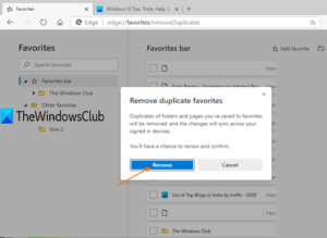 How to remove Duplicate Favorites in Microsoft Edge browser use-remove-button-300x219.png