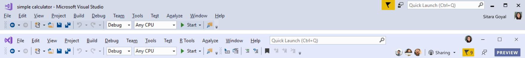 Visual Studio 2019 Preview 2 Blog Rollup Visual-Studio-command-shelf-comparison.png