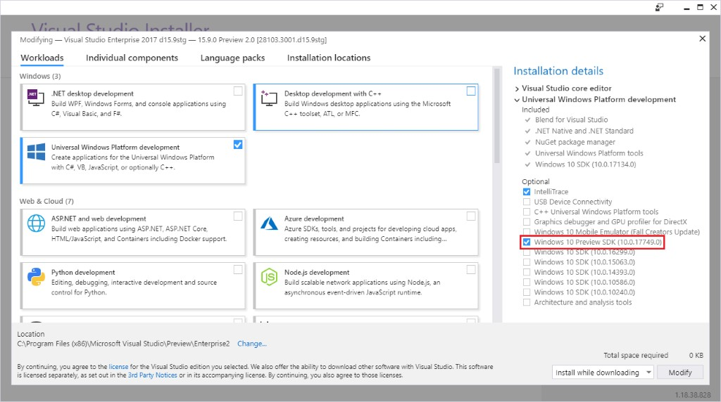Visual Studio 2022 64-bit public preview will be released this summer Visual-Studio-Installer-showing-Windows-10-Preview-SDK-as-optional.jpg