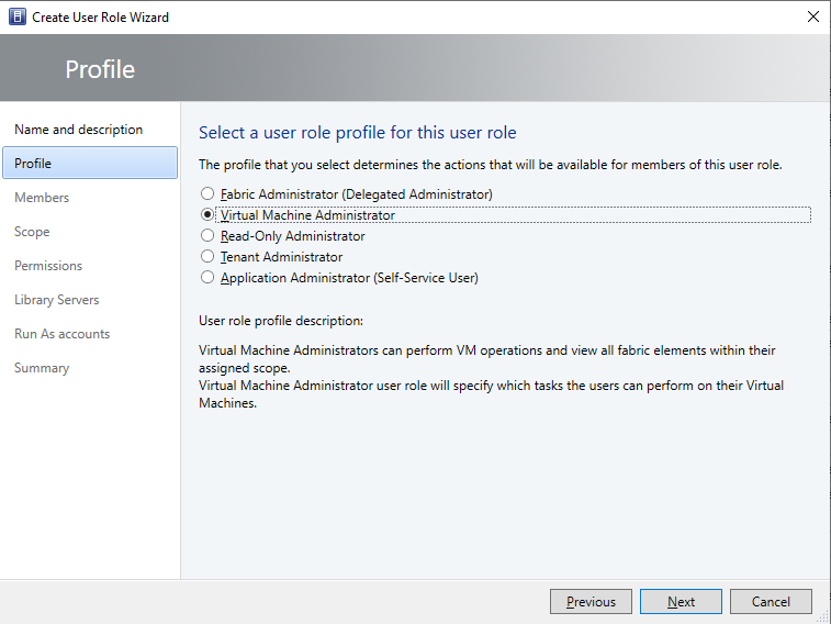 Build 2019: Developing people-centered experiences with Microsoft 365 VM-Administrator-Role-in-VMM.png